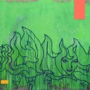 SOLD: Green, 2008, God&#8217;s Hands, 96 x 72&#8243; Unframed, Acrylic, Gravel and Resin on Canvas and Wood
